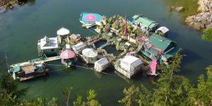 «Свободная бухта»— плавающий остров для пары романтиков