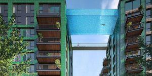 Стеклянный бассейн на высоте 35 метров в Лондоне