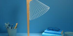 Креативные 2D настольные лампы BULBING от Studio Cheha