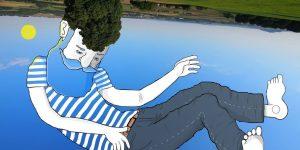 Томас Ломадью рисует на небе