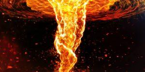 Огненное торнадо в замедленной съемке