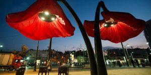 Цветочные фонари в Иерусалиме
