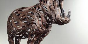 Сон Хун Кан и его динамические скульптуры животных из металлических полос