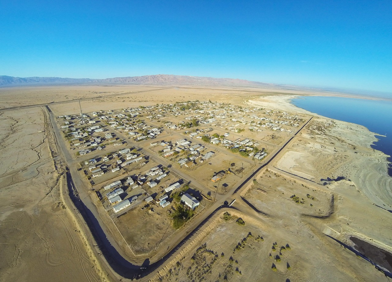 Bombay Beach, Salton Sea, from the air