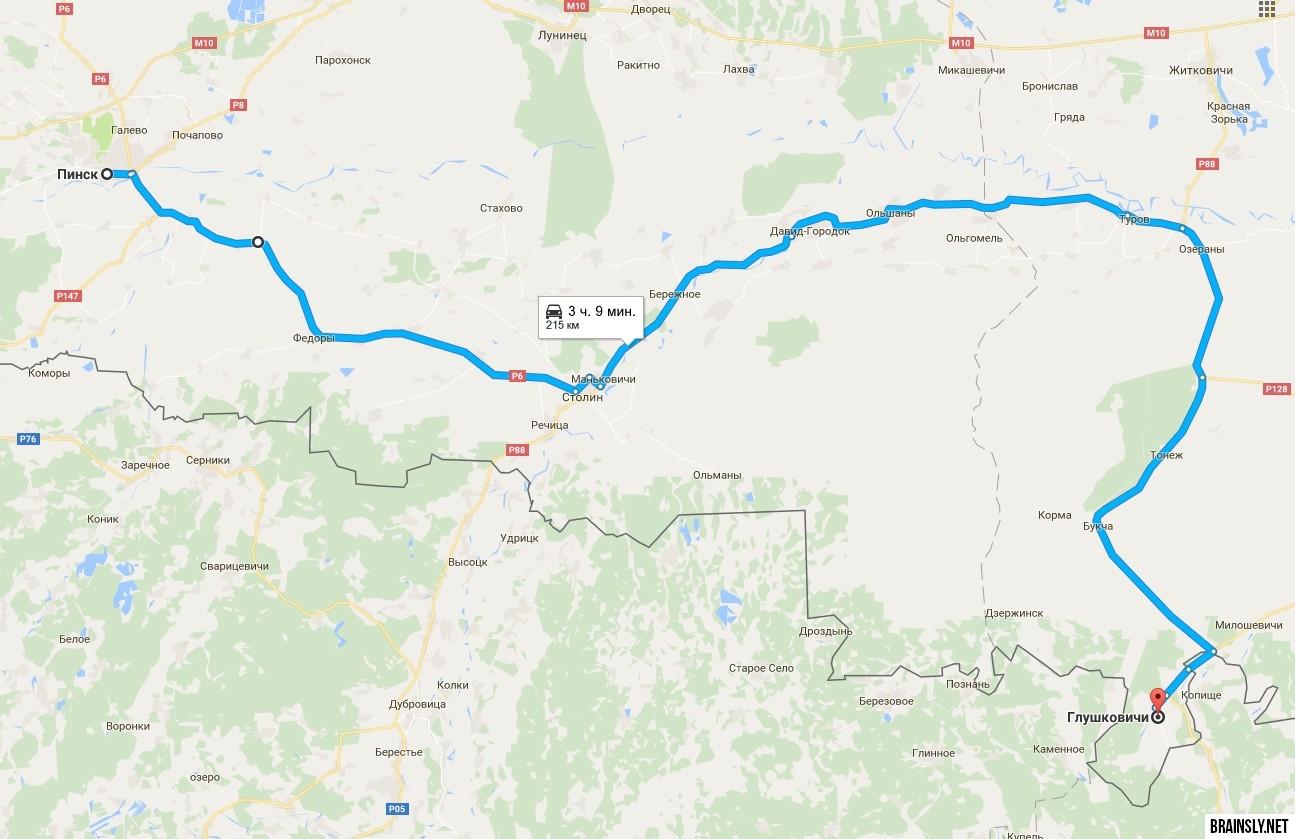 Разведка. Белорусская Скандинавия Карта