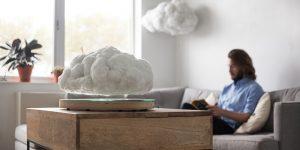 Парящий беспроводной динамик в форме штормового облака