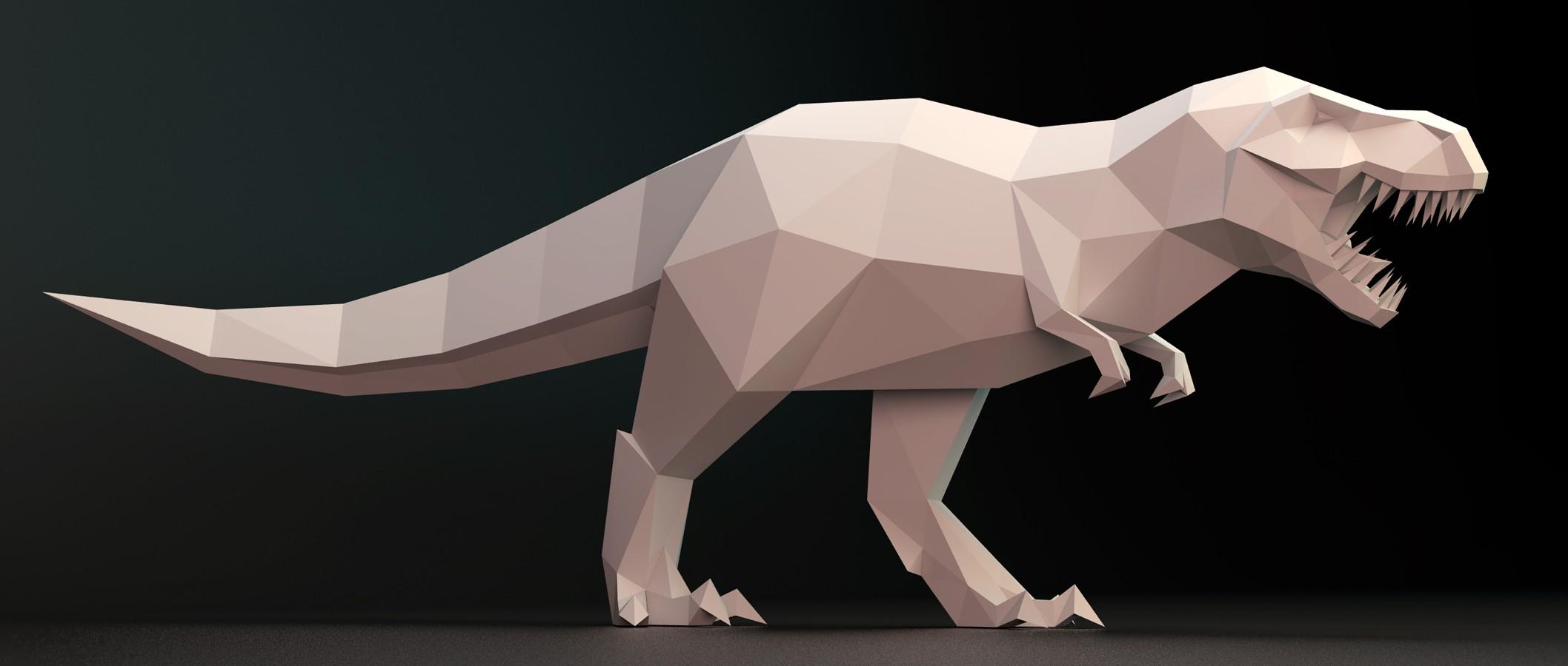 papercraft-t-rex