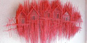 Композиции из стальных прутьев от Дэвида Морено