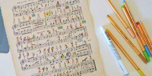 Иллюстрации на партитурах от Алексея Ляпунова и Лены Эрлих