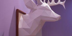 DIY. Стильная голова оленя из бумаги для украшения интерьера