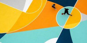 Яркая баскетбольная площадка от GUE