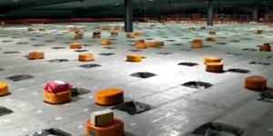 Роботы-сортировщики курьерской фирмы Shentong