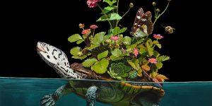 Союз флоры и фауны в гиперреалистичных картинах Лизы Эриксон